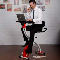 Locek F1MR Fitness magnetic laptop bike with tabletop design for office