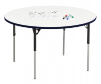 Table Dry Wipe Marker Board - Round