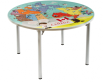 Bilingual Canada Map Table