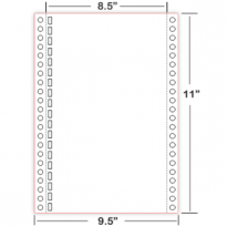 "Braille Paper 8.5""×11"" – 19 Hole tractor feed"