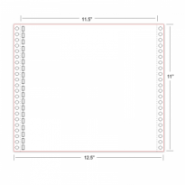 "Braille Paper 11""×11.5"" – 19 Hole tractor feed"