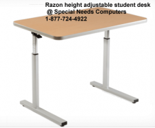 "Razor wheelchair height-adjustable student desk - 24"" Deep"