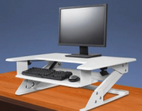 Sit To Stand Desk Riser - White