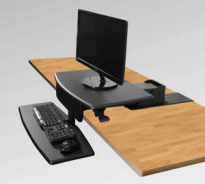 Desk Mounted Sit To Stand - Black