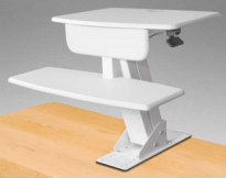 Desk Mounted Sit To Stand - White