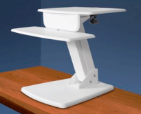 Desk Top Riser Sit To Stand - White