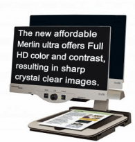 "Merlin Ultra 20"" video magnifier"
