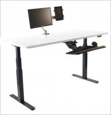 Uprise Standing Desk with Whiteboard Work-surface