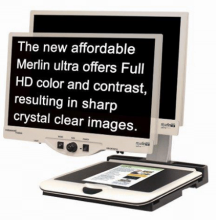 "Merlin Ultra HD 22"" video magnifier"