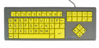 BigKeys LX - Yellow, QWERTY