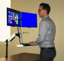 Rocelco EFD Ergonomic Sit to Stand Floating Desk