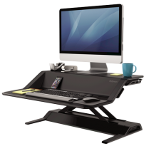 Lotus™ Sit-Stand Workstation - Black