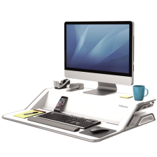 Lotus™ Sit-Stand Workstation - White