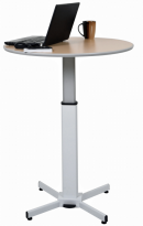 Pneumatic Adjustable Round Pedestal Table - LX-PNADJ-ROUND