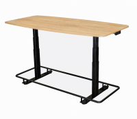"72"" Electric Adjustable Conference Table with Footrest Bar - STANDECTFB72WO"