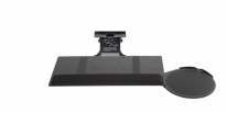 Tuk-A-WAY Phenolic Standard Keyboard Tray w/Oval SRV Mouse Platform & Viscoflex Memory Foam Wrist Rest - KCS39570