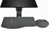 Sit-Stand Leverless Lift N' Lock Natural Keyboard Tray with Mouse Platform - KCS74532