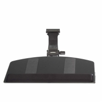 Sit Stand, Leverless Curved Keyboard Tray with Viscoflex Memory Foam Wrist Rest - KCS74500