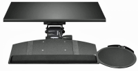 Leverless Lift N' Lock Curved Keyboard Tray with Mouse Platform - KCS69525