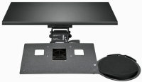 Leverless Lift N' Lock Laptop Keyboard Tray with Mouse Platform & Viscoflex Circle Mouse Pad - KCS69516