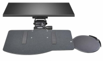 Leverless Lift N' Lock Natural Keyboard Tray with Oval SRV Mouse Platform - KCS69532