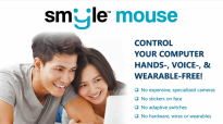 Smyle Mouse software for hands-free computer control.