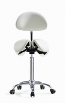Divided Saddle Seat Stool with Backrest For Dental Hygienist