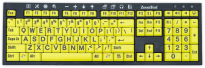 ZoomText Keyboard - Black Print on Yellow