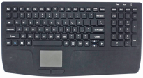 Wireless RF Waterproof Silicone Keyboard with Numberpad and Touchpad with IP67