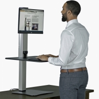 High Rise Single Monitor Electric Sit Stand Desk Converter