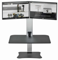 High Rise Dual Monitor Electric Sit Stand Desk Converter - DC450