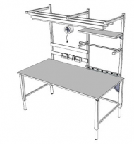 Accella Adjustable Workbench - 4Leg