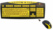Keys U See Wireless Yellow Keyboard with Mouse