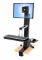 WorkFit-S, Single LD Sit-Stand Workstation