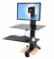 WorkFit-S, Single HD with Worksurface+
